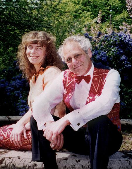 """Tony"" Goldstone with his wife, Caroline Clemmow"