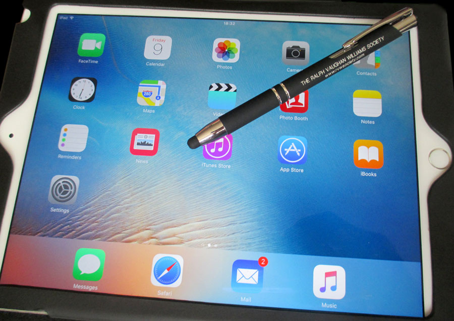 Smart looking dual function pen with stylus.