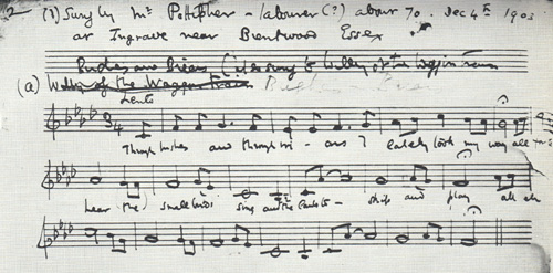 Bushes & Briars original notation