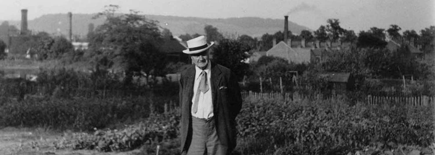 Vaughan Williams in garden