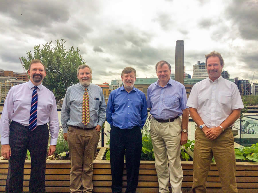 Martin Murray (Secretary), John Francis (Treasurer), Sir Andrew Davis (President), Simon Coombs (Chairman), Mark Hammett (Membership Secretary)