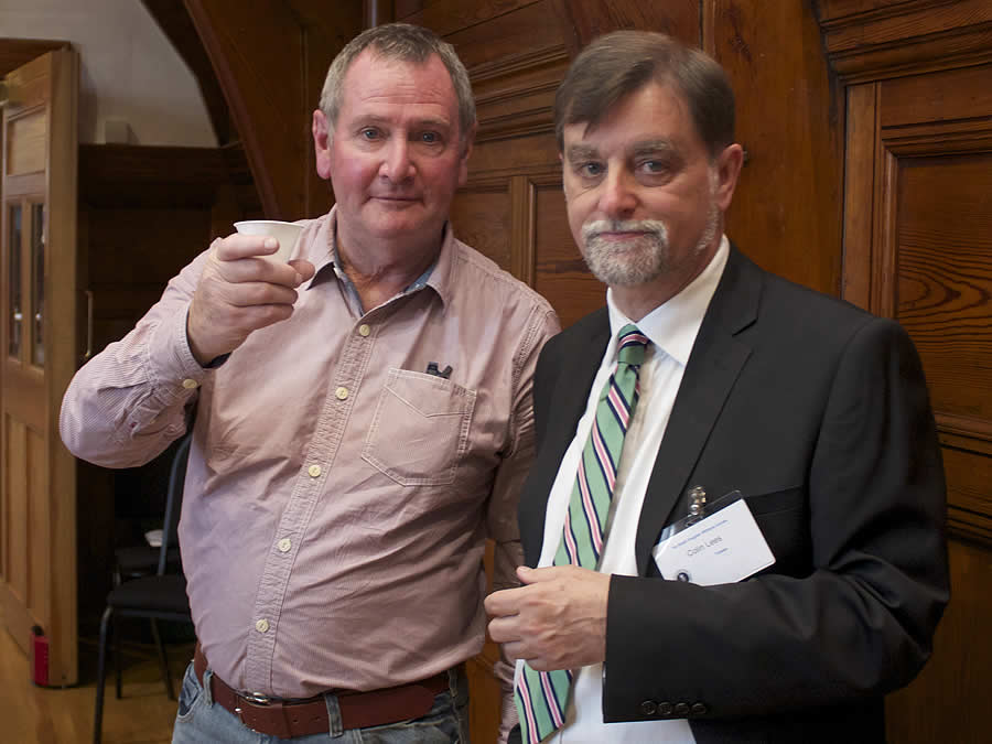 Original founder member Dr Robin Barber with Colin Lees