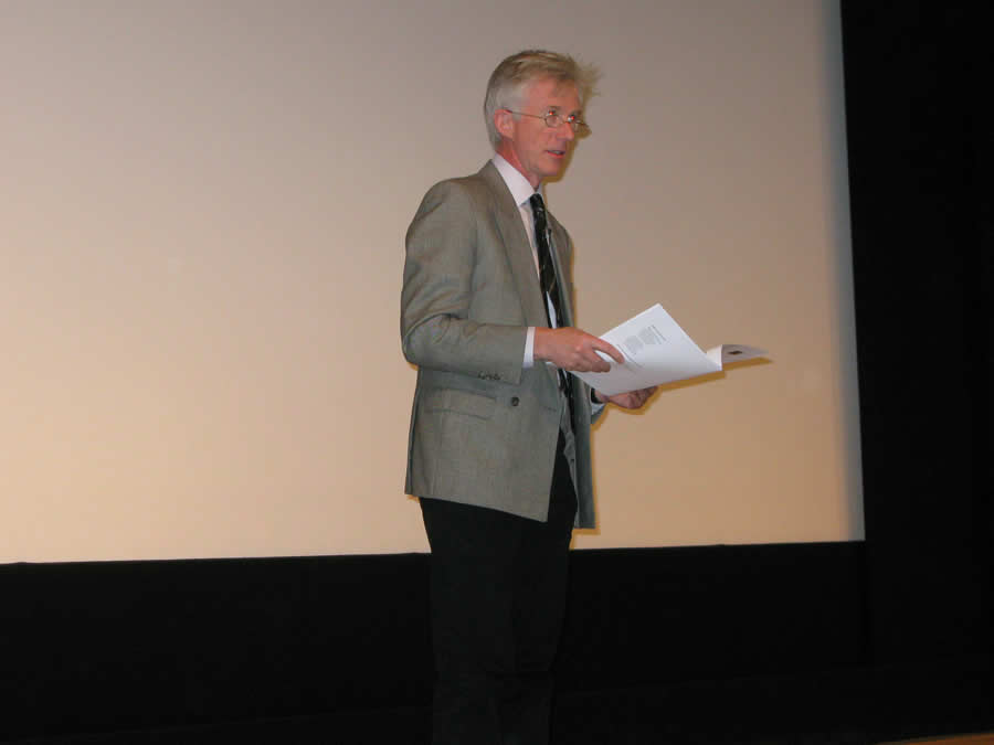 Film maker , journalist and author John Bridcut lectures at a Joint Symposium with the Elgar Society