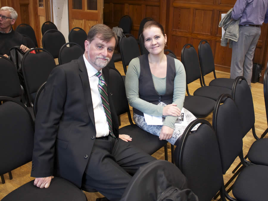 Czech member Anna Vlasakova with Colin Lees