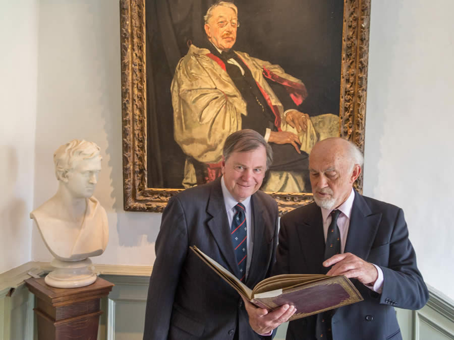 Simon Coombs and Alan Tongue and the manuscript of 'A Cambridge Mass'