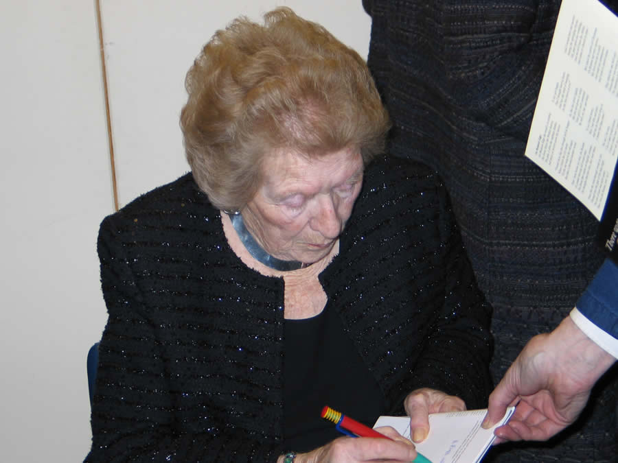 Ursula Vaughan Williams book signing at a Society event
