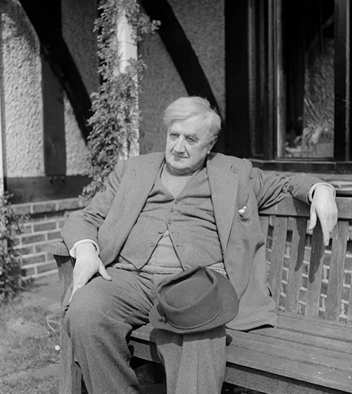 Vaughan Williams sitting outside The White Gates