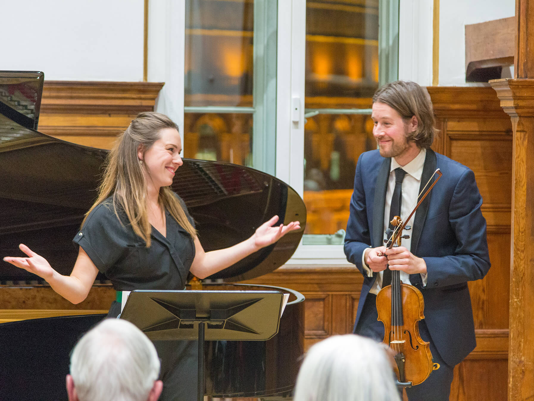 Mary Bevan and Thomas Gould at ' Purer' Launch at RCM