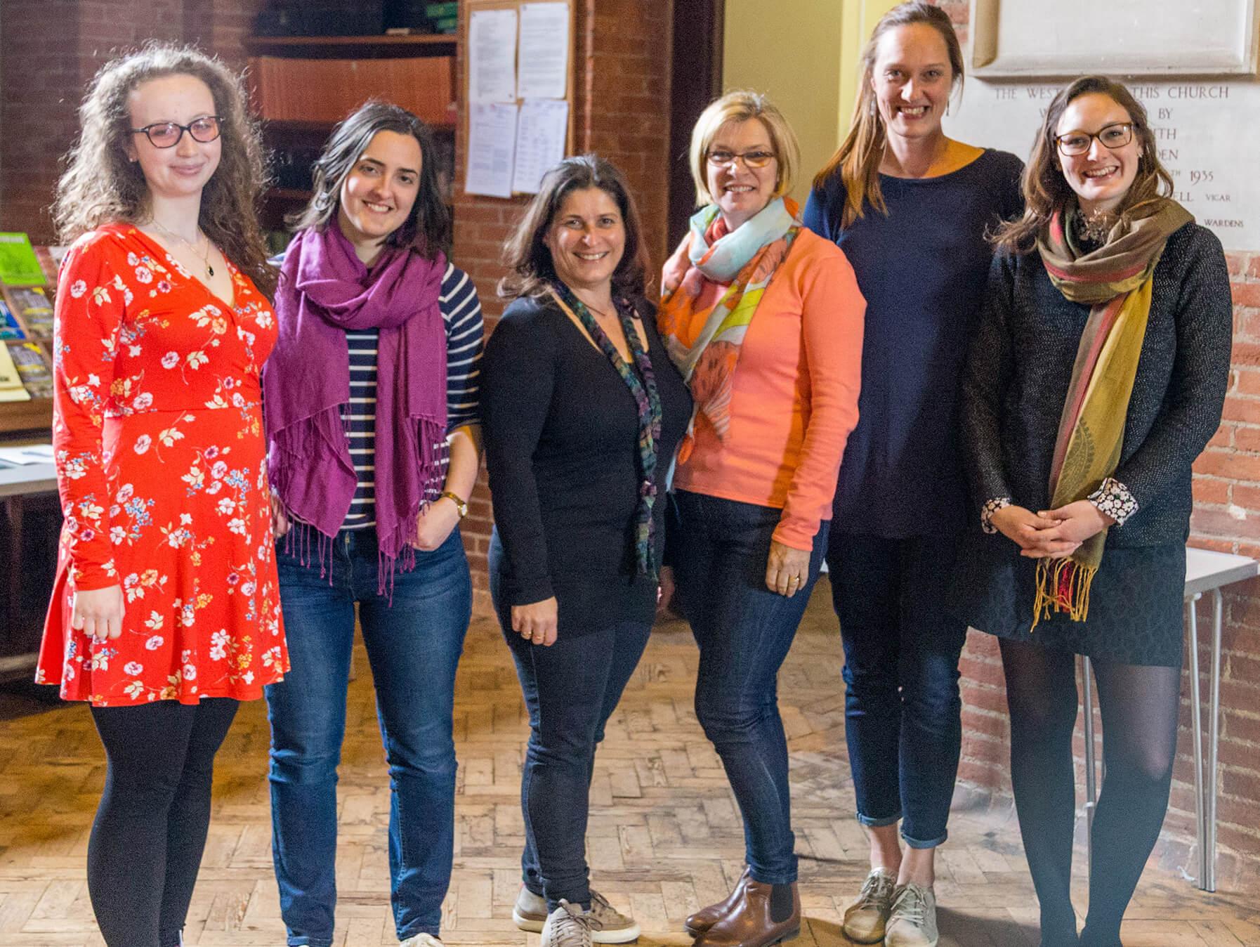 Rhiannon Randle, Rosalind Russell, Lorna Perry, Cathryn Caunt, Annika Lindskog, Heather Lowe